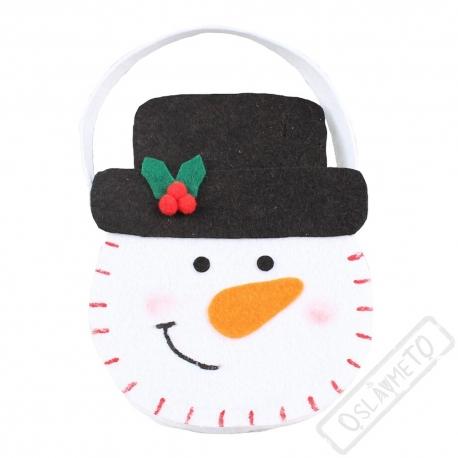 Vánoční košík Sněhulák