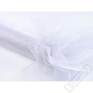 Dekorační organza Glittery White šíře 36cm