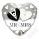 Nafukovací balónek Srdce Svatební 45cm