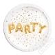 Papírové party talíře Party Gold