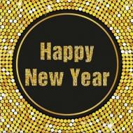 Papírové party ubrousky Happy New Year