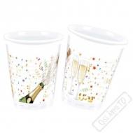 Plastové party kelímky Spakling Champagne