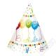 Papírové party kloboučky Birthday Balloons