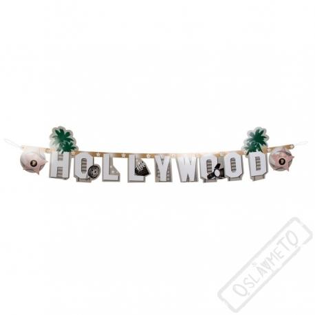 Písmenková party girlanda Hollywood