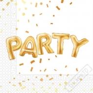 Papírové party ubrousky Party Gold
