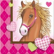 Papírové party ubrousky Koně