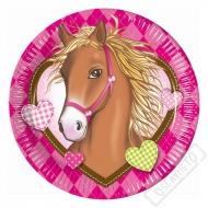 Papírové party talíře Koně