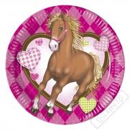 Papírové party talířky Koně