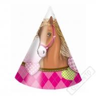 Papírové party kloboučky Koně