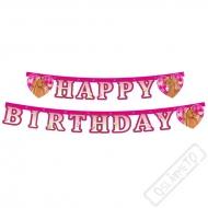 Narozeninová girlanda Happy Birthday Koně