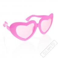 Jumbo party brýle srdce růžové