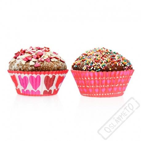 Košíčky na muffiny se srdíčky