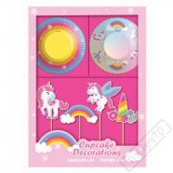 Sada na muffiny Unicorn Rainbow