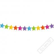 Papírová party girlanda Hvězdy
