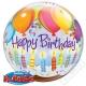 Nafukovací balón bublina Happy Birthday 56cm