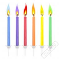 Dortové svíčky barevně hořící