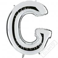 Nafukovací balón stříbrný písmeno G 101cm