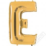 Nafukovací balón zlatý písmeno E 101cm