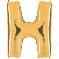 Nafukovací balón zlatý písmeno H 101cm
