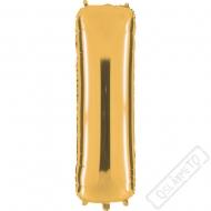 Nafukovací balón zlatý písmeno I 101cm
