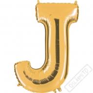 Nafukovací balón zlatý písmeno J 101cm