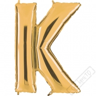 Nafukovací balón zlatý písmeno K 101cm