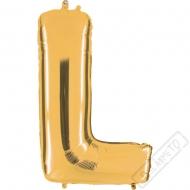 Nafukovací balón zlatý písmeno L 101cm