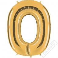 Nafukovací balón zlatý písmeno O 101cm