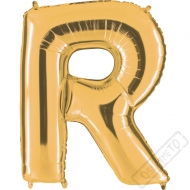 Nafukovací balón zlatý písmeno R 101cm