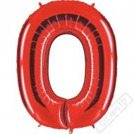 Nafukovací balón číslo 0 červený 101cm