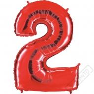 Nafukovací balón číslo 2 červený 101cm