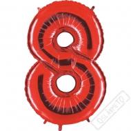 Nafukovací balón číslo 8 červený 101cm
