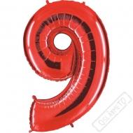 Nafukovací balón číslo 9 červený 101cm