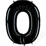 Nafukovací balón číslo 0 černý 101cm