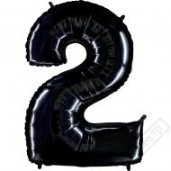 Nafukovací balón číslo 2 černý 101cm