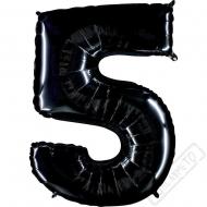 Nafukovací balón číslo 5 černý 101cm
