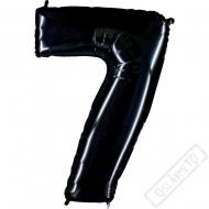 Nafukovací balón číslo 7 černý 101cm