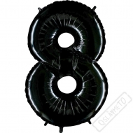 Nafukovací balón číslo 8 černý 101cm