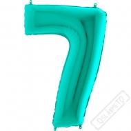 Nafukovací balón číslo 7 tyrkysové 101cm