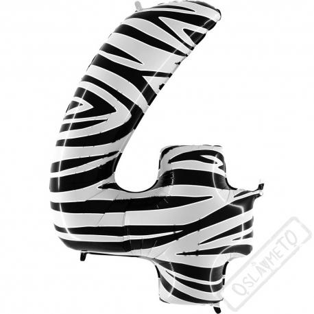 Nafukovací balón číslo 4 Zebra 101cm