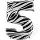 Nafukovací balón číslo 5 Zebra 101cm