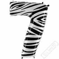 Nafukovací balón číslo 7 Zebra 101cm