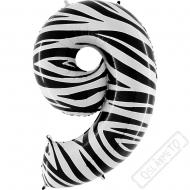 Nafukovací balón číslo 9 Zebra 101cm