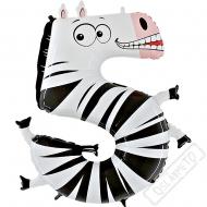 Nafukovací balón číslo 5 Zvířátko Zebra 102cm