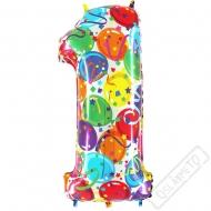 Nafukovací balón číslo 1 Party 102cm