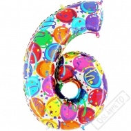 Nafukovací balón číslo 6 Party 102cm