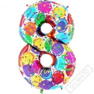 Nafukovací balón číslo 8 Party 102cm