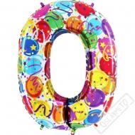 Nafukovací balón číslo 0 Party 102cm