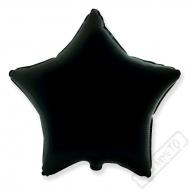 Nafukovací balónek fóliový Hvězda černá 45cm