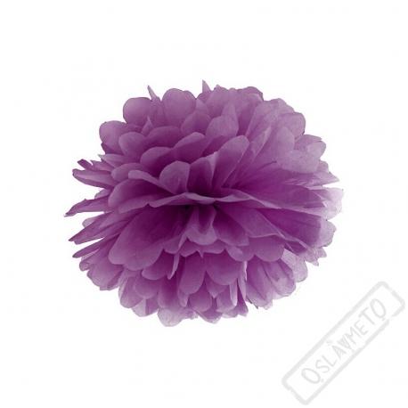 Papírová Pom pom koule fialová 25cm